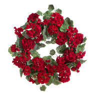 22 Inch Geranium Wreath