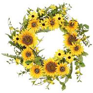 24 Inch Sunflower Wreath