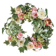 24 Inch Cabbage Floral Wreath