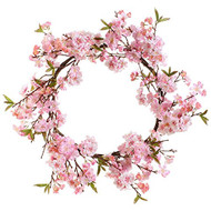 26 Inch Cherry Blossom Wreath
