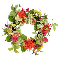 24 Inch Mixed Floral Wreath
