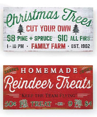 B B Christmas Trees and Reindeer Treats Rustic Christmas Wall Hangings