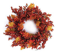 Fall Berry Wreath 24""