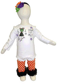 K K Baby Girls Halloween Onesie, Leggings Headband Outfit, Under My Spell, 6-12 Months