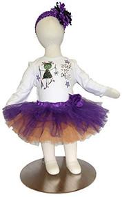 K K Baby Girls Halloween Onesie, Tutu Headband Outfit Under My Spell 0-6 Months