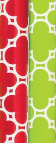 Red & Green Tiles Gift Wrap Rolls