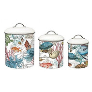 Michel Design Works Sea Life 3-Piece Canister Set