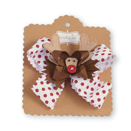 Baby & Toddler Girls 3 in 1 Reindeer Holiday Bow