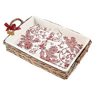 Toile Rectangular Baker with Basket