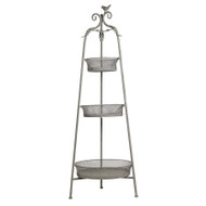 Three Tier Metal Plant Stand - 4 Foot