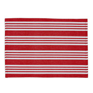 Candy Apple Beach Stripe Placemats - Set of 4