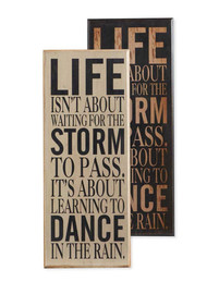 Life Isn't About...Wall Print - Black