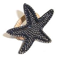 4 Starfish Design Napkin Rings