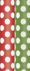 Red & Green Dots Gift Wrap Rolls