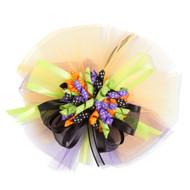 Purple, Green, Black & Orange Childs Hair Clip