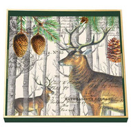 Balsam Fir Square Decoupage Tray