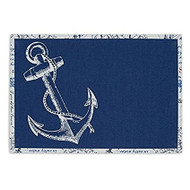 DII Reversable Anchor Placemats - Set of 4
