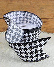 Houndstooth Ribbon 2-1/2 in x 24 ft