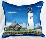 Scituate Lighthouse Large Pillow
