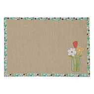 DII Ditsy Daisies Reversible Placemats - Set of 4