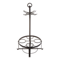 "25"" Wine Rack with Glass Holder"