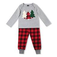 Mud Pie Baby Tree & Buffalo Check Two Piece Pant Set, Pajamas