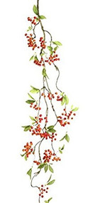 4 Foot Red Berry Garland