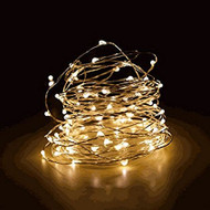 100 LED Waterproof Warm White Fairy String Lights