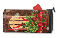 Mountain Cabin Sled Mail Wrap