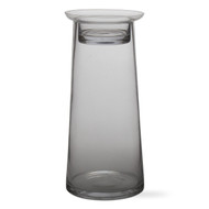Tag 202613 12 by 5.5-Inch Two Part Glass Pillar Holder, X-Tall, Clear