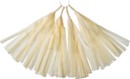 Ivory 12 Inch Paper Tassels, Set of 8