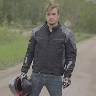 Vikingcycle Ironborn Textile Motorcycle Jacket for Men