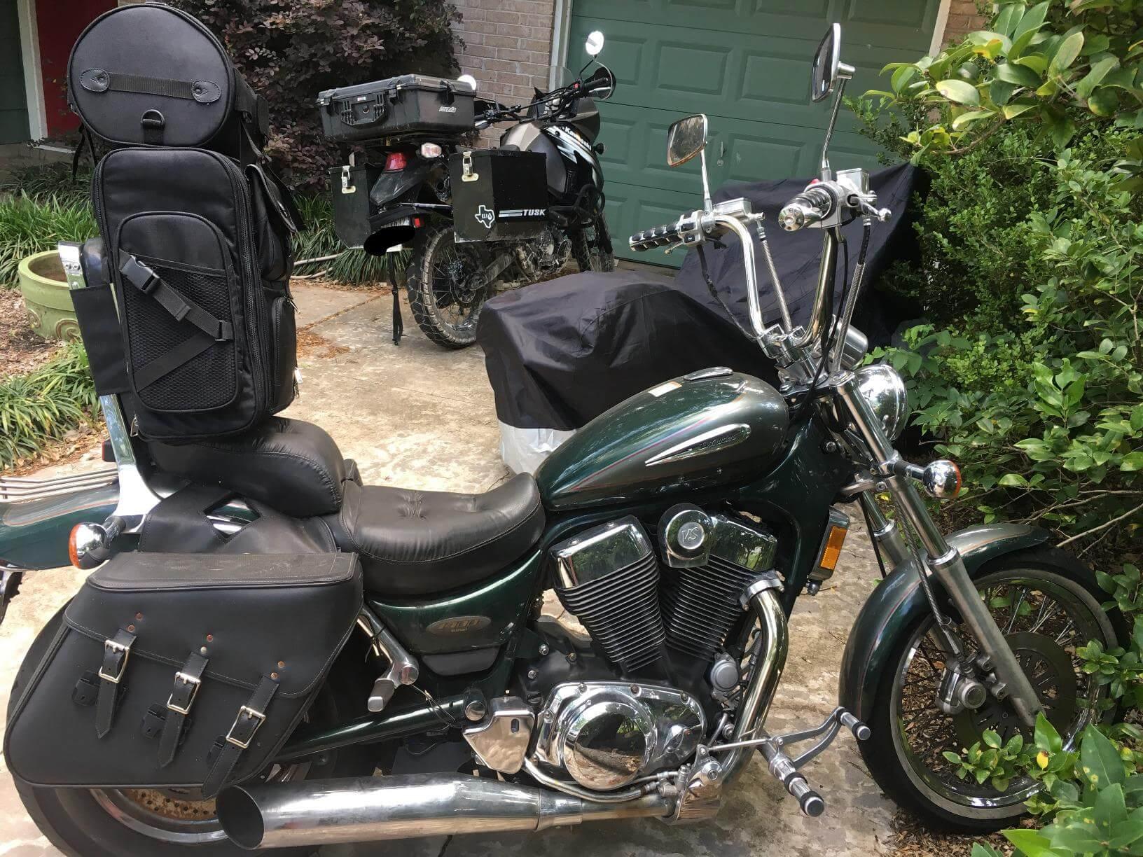 430f238671c Viking Large Sissy Bar Bag - Motorcycle House Australia
