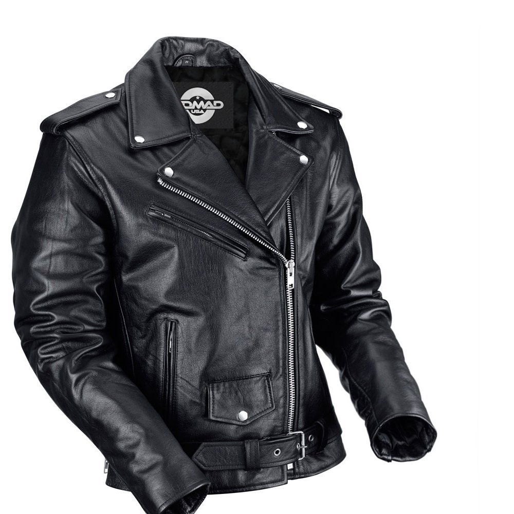 Nomad USA Classic Leather Biker Jacket for Men ...