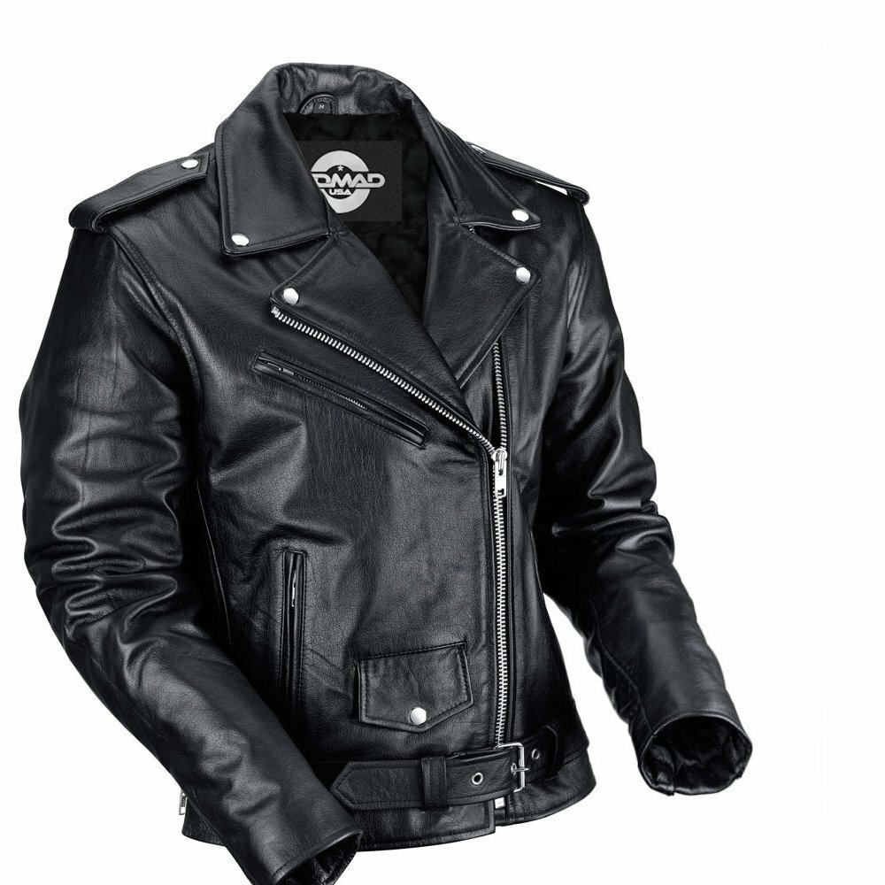 Leather motorcyle jacket