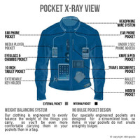VikingCycle Skeid Brown Leather Jacket for Men X-Ray