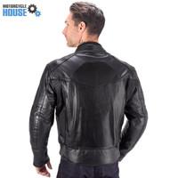 VikingCycle Skeid Brown Leather Jacket for Men Black 2