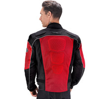 Vikingcycle Warlock Mesh Motorcycle Jacket for Men Red 2