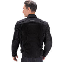 Vikingcycle Warlock Mesh Motorcycle Jacket for Men Black 2