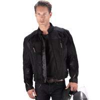 Vikingcycle Warlock Mesh Motorcycle Jacket for Men Black 3