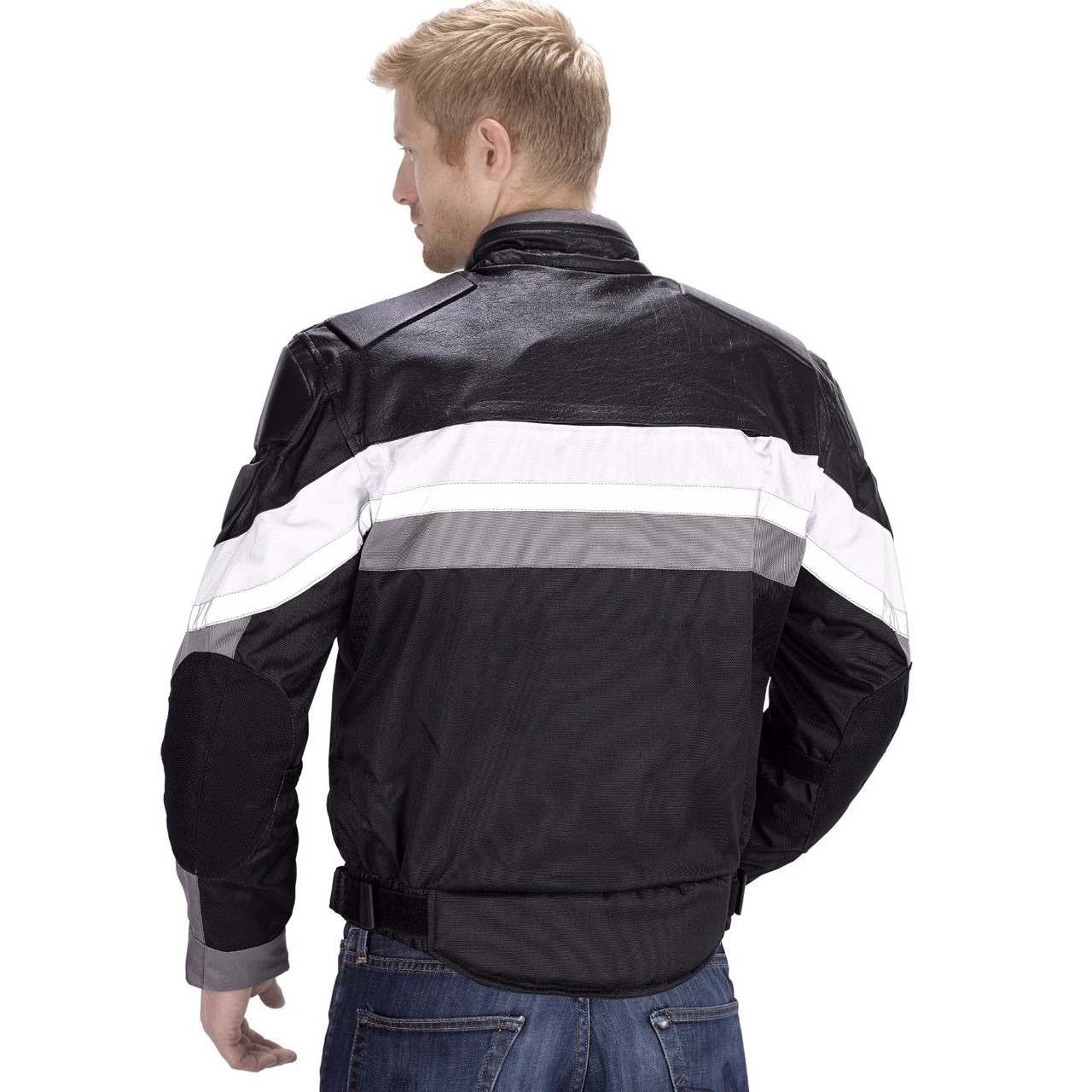 VikingCycle Hammer Motorcycle Jacket for Men Back Side