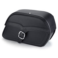Victory Vegas Charger Medium Single Strap Leather Saddlebags