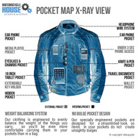 VikingCycle Thor Motorcycle Jacket for Men X-Ray Image Front