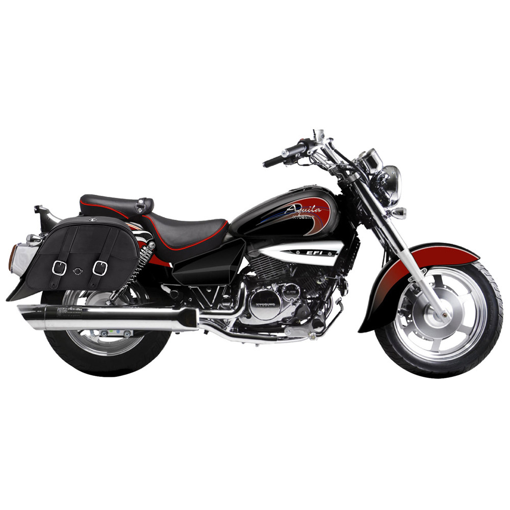 hyosung gv250 aquila charger medium slanted leather saddlebags rh motorcyclehouse com au 2005 Hyosung GV250 2004 Hyosung GV250