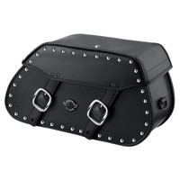 Viking Pinnacle Studded Large Motorcycle Saddlebags For Harley Softail Breakout