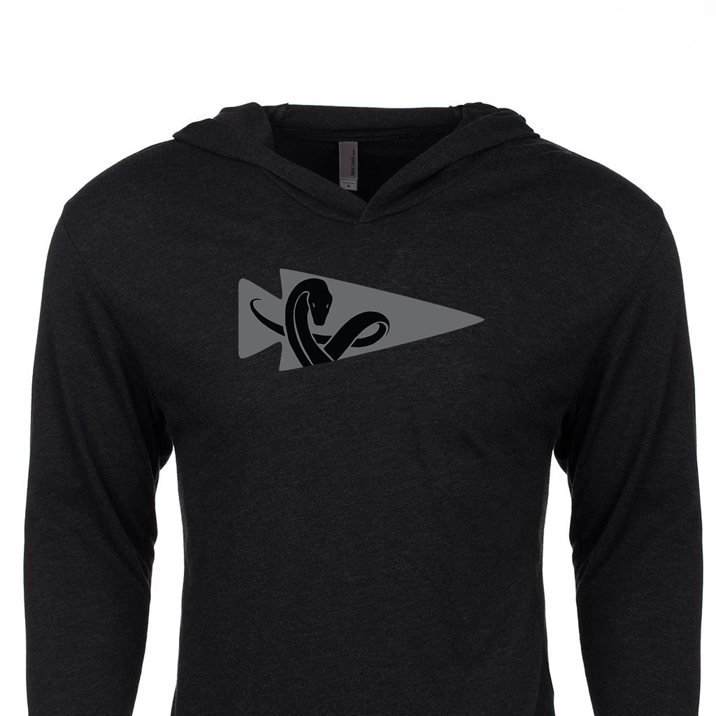 Black t shirt hoodie - Hoodie Charming The Snake