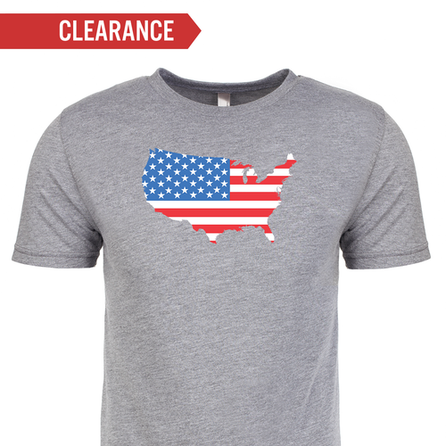 T-shirt - American Flag Map