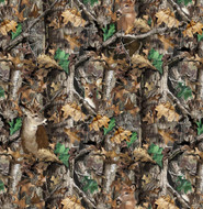 RealTree Camouflage Fabric All Over Print With Deer In Cotton