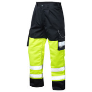 Leo Hi-Vis Two-Tone Bideford Cargo Trousers (CT01-Y/NV)