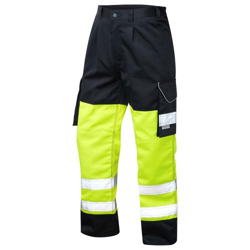Leo Hi-Vis Two-Tone Bideford Cargo Trousers (CT01-Y/NV)